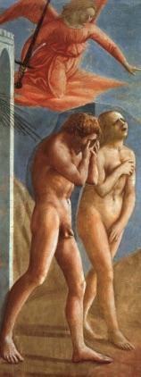 Masaccio Cappella Brancacci Cacciata di Adamo ed Eva