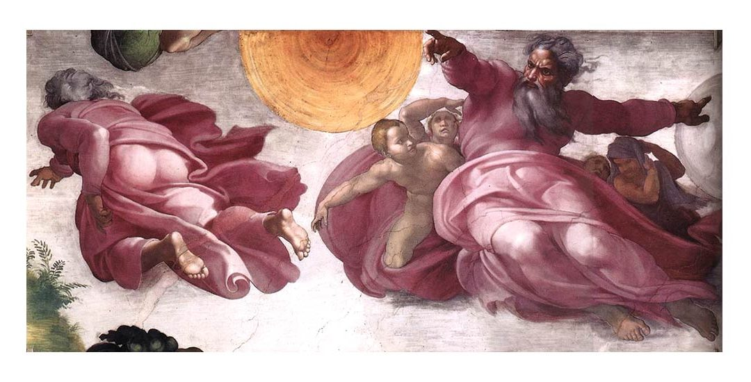 The Sistine Chapel in the Vatican: the Creation of the sun, the moon and the plants