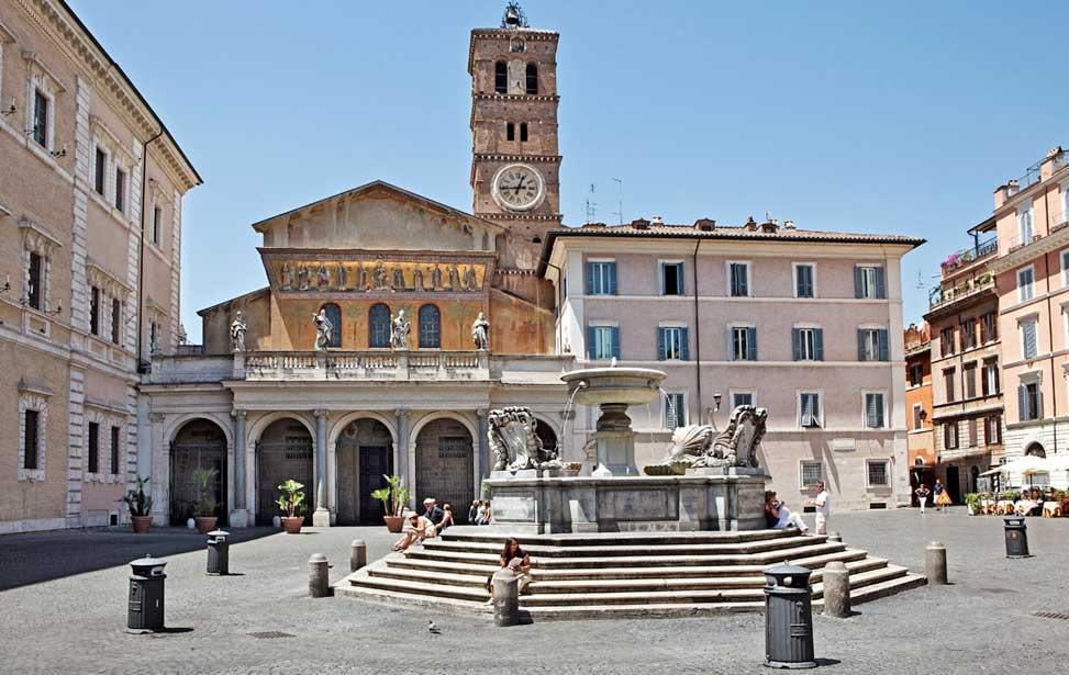 Rome Chrétienne et ses monuments - EUGENE DE LA GOURNERIE - 1867 Santa-Maria-in-Trastevere