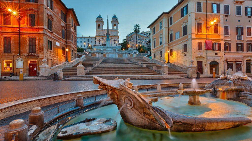 Piazza di Spagna: Roma di notte