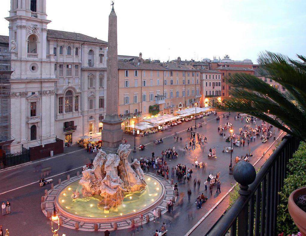 Piazza Navona: Roma di notte