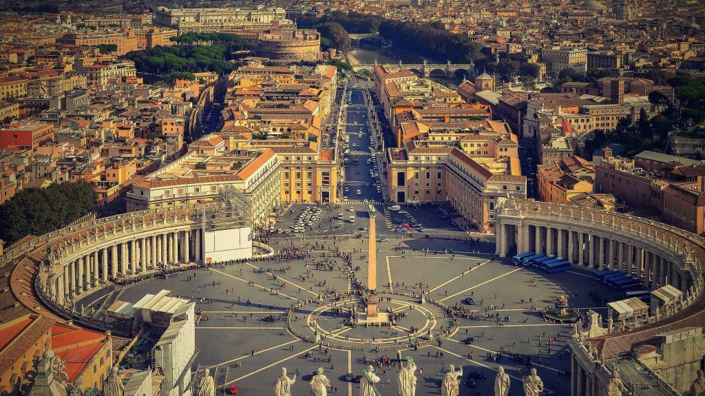 Veduta aerea di Piazza San Pietro