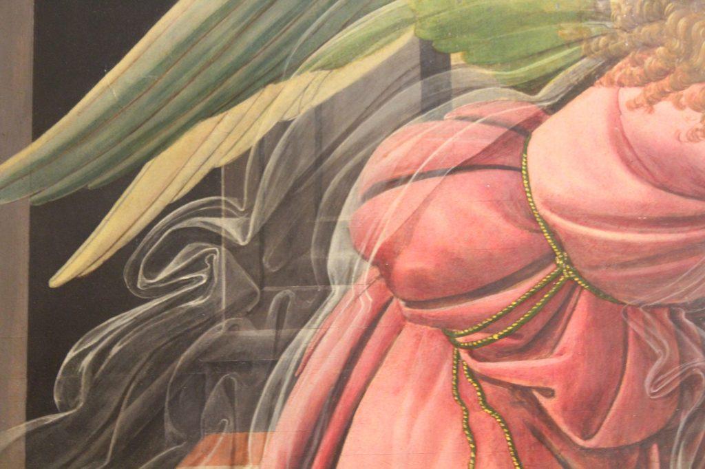Dettaglio velo dell'Annunciazione