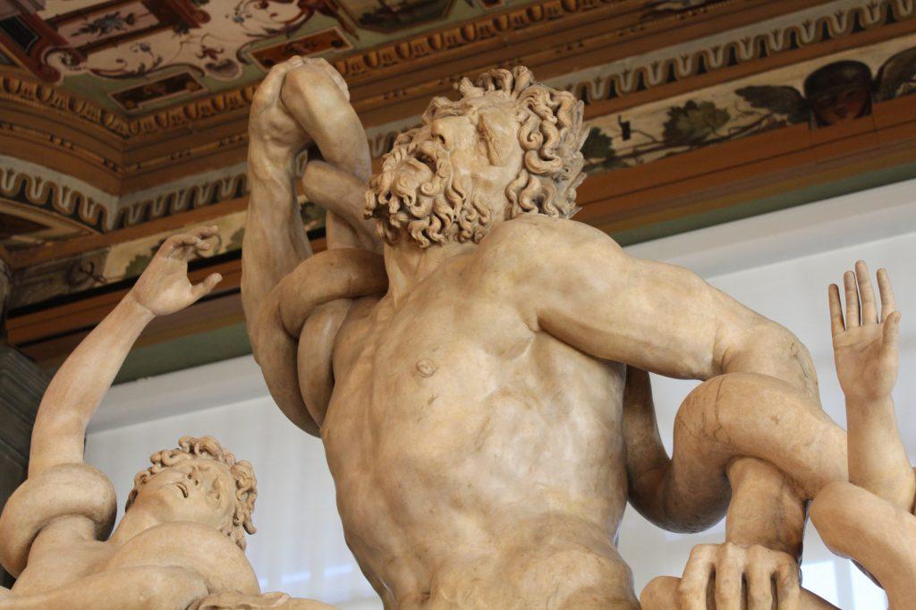 Copia del Laocoonte alla Galleria degli uffizi