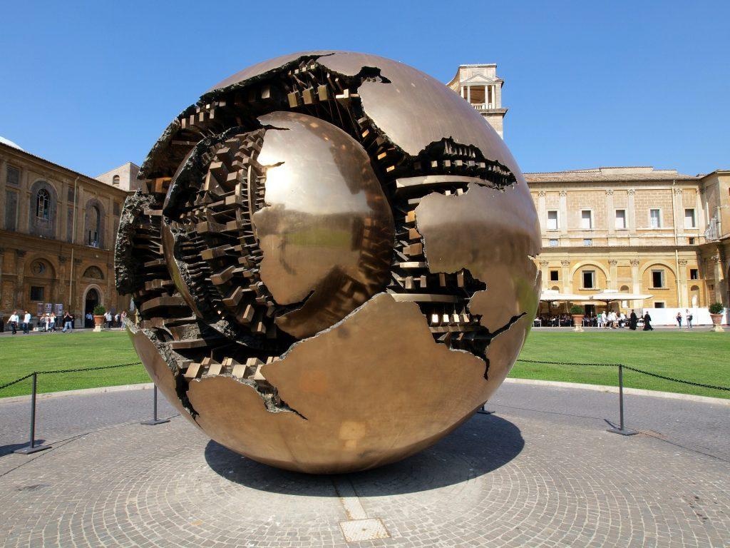 Arnaldo Pomodoro's circular sphere