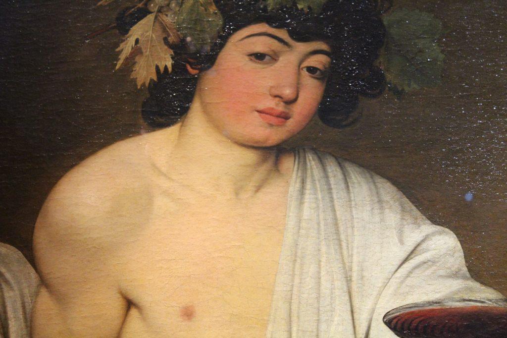 Caravaggio's Bacchus at Uffizi Gallery in Florence