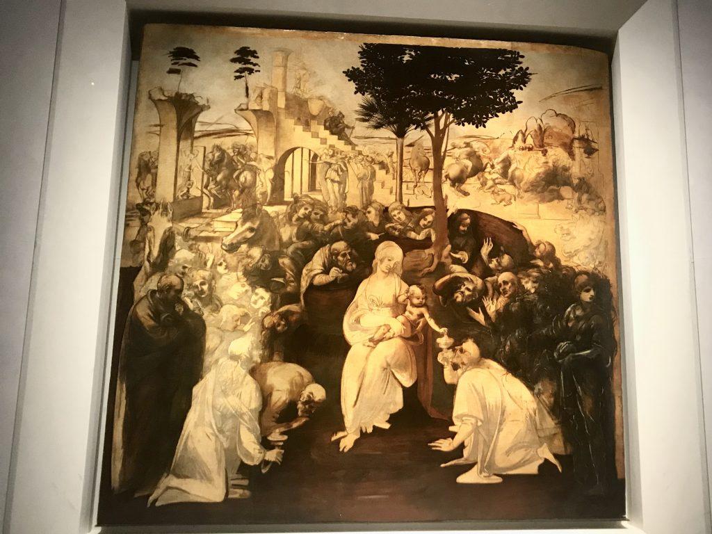 Adorazione dei Magi -Leonardo da Vinci - Galleria degli Uffizi