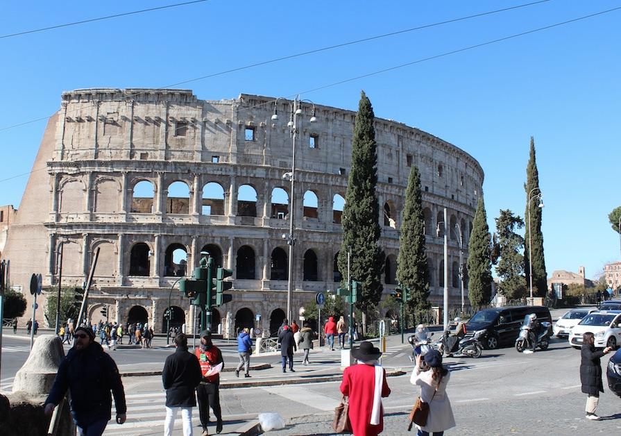 Colosseo visto dalla Domus Aurea