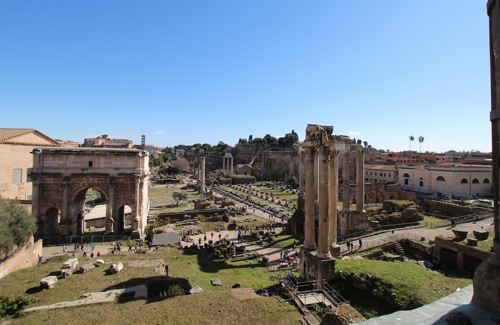 Musei Capitolini affaccio sul Foro Romano