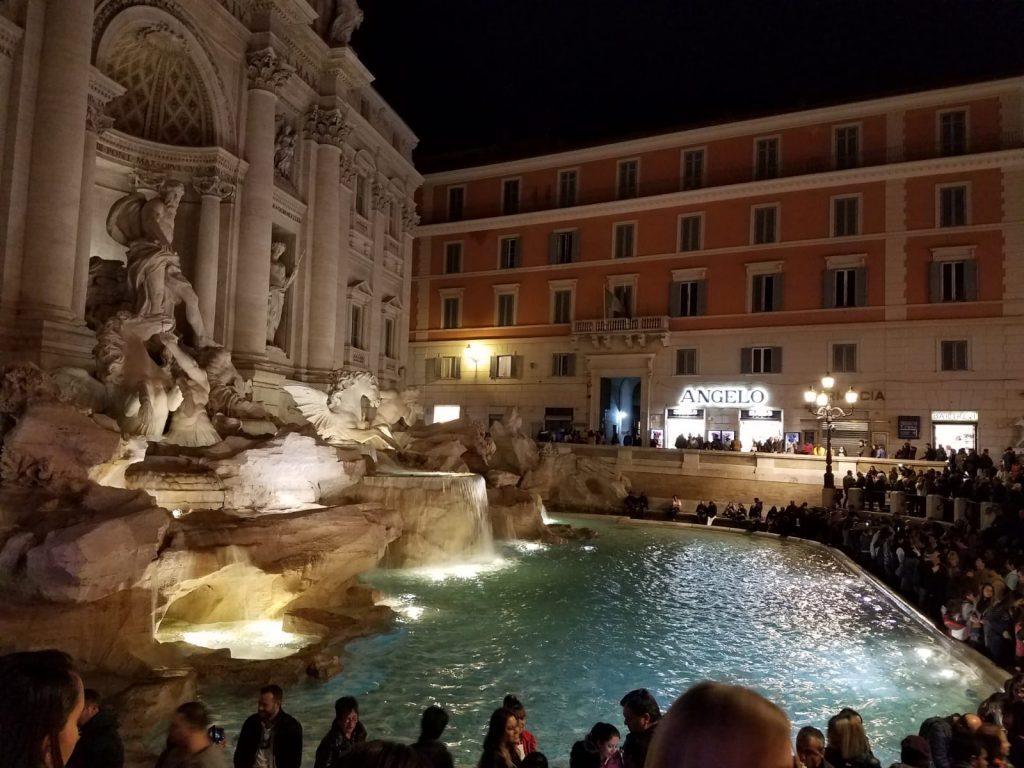 Rome at Night - Trevi Fountain