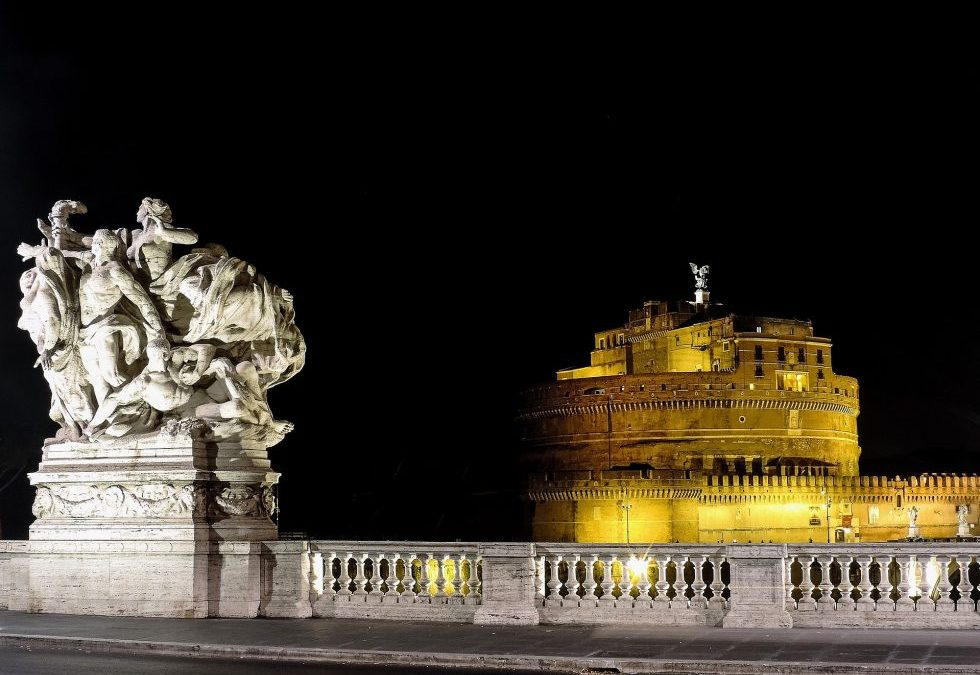 Visit Rome in the evening