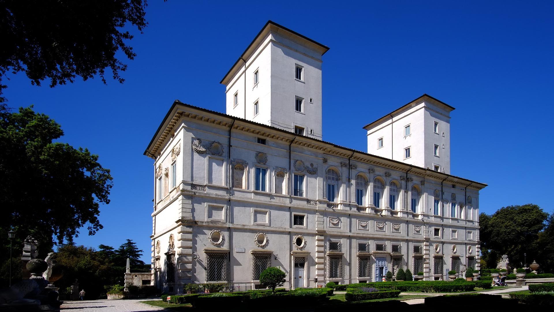 Giardino di Villa Borghese palazzo