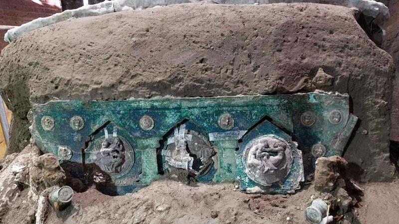 Le ultime scoperte a Pompei, carro nunziale