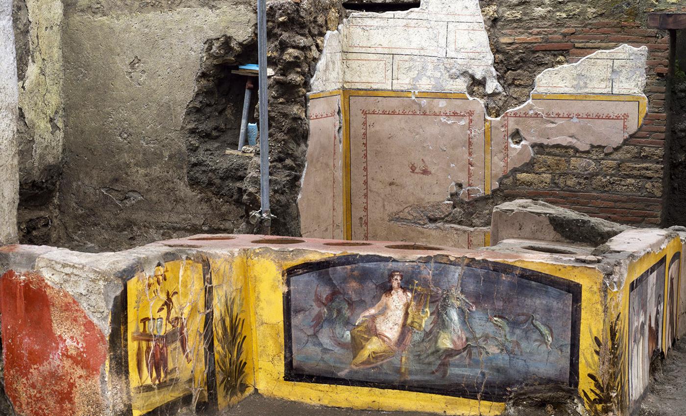 Le ultime scoperte a Pompei, antica mensa